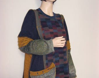 XL to 1X  Multi Colored Muted Tunic