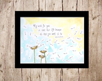 Rascal Flatts 'My Wish' - Original Watercolor Illustrated Painting - 15 inch x 11 inch - Flat Unframed Watercolor Paper - My Wish for You
