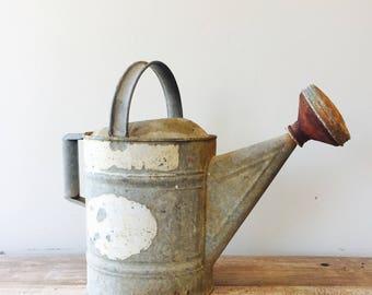 Vintage 10 gallon Watering Can, Sprinkler Watering Can