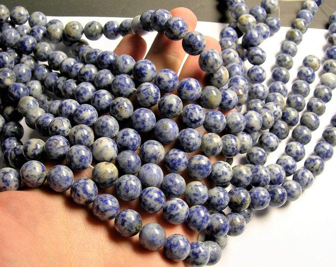 Blue spot Jasper - 12mm - round bead -  33 beads - full strand - RFG1308