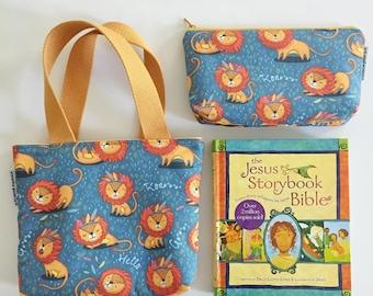 kid bible combo set -- bold lions