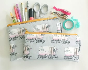 pencil pouch -- where you go campers [#kateandaprilconspire]