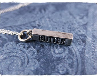 Silver Butter Necklace - Sterling Silver Butter Charm on a Delicate Sterling Silver Cable Chain or Charm Only