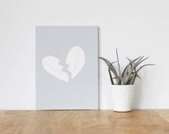 "gray wall art acrylic painting, ""friends forever not"" - are you my bestie, flat 6x8 canvas, bffs, girlfriend, best friends, portrait, art"