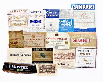 15 Liqueur Labels, Brandy & Cognac