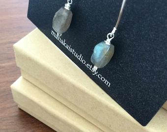 Lehu Uila - Labradorite and Stering Silver drop Earrings