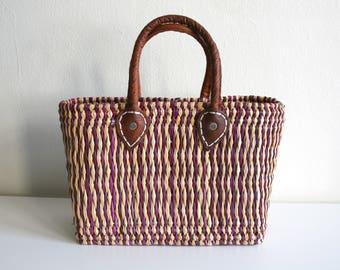 African Basket Handbag