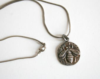 Honey Bee Sterling Necklace