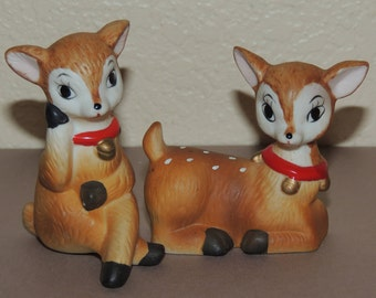 Christmas Fawns by Homco, Set of two