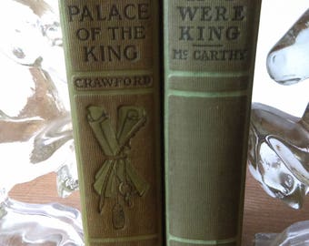 Green King Themed Antique Book Set