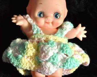 "Vintage Kewpie Dolls 4 Different Dolls to Choose from/Nostalgic 60's 70's/Craft Supply Toy 7"" Movable head+arms Baby 1 set Mini Crochet"