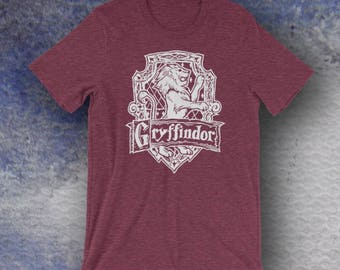 Harry Potter Inspired Gryffindor Screen Printed T-Shirt