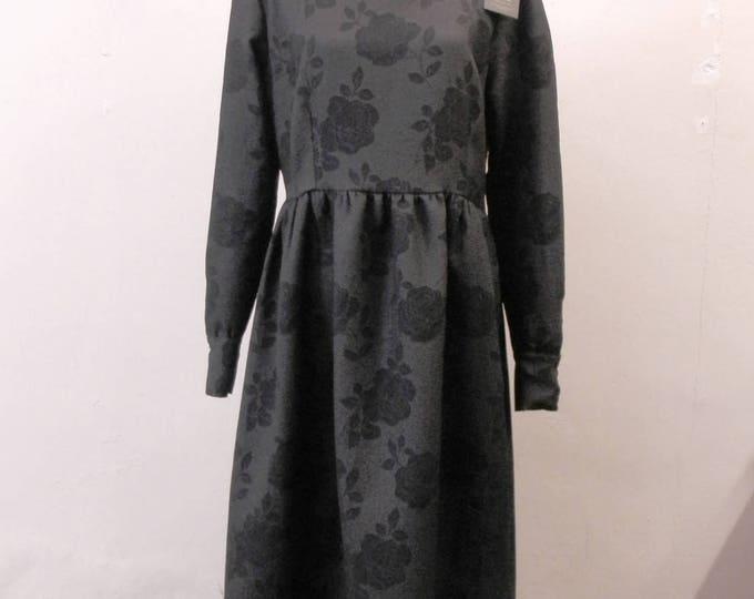 Black Rose Dress - Floral elegant dress