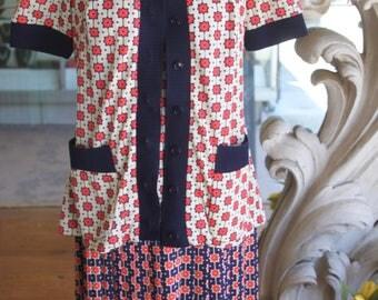 Vintage 1970s 2-piece Dress