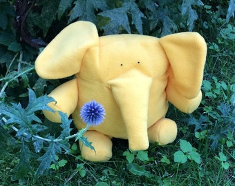 Elephant Softie - Plush Elephant - Yellow Elephant