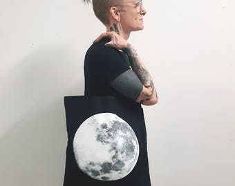 Full Moon Worship Glow-in-the-Dark Tote Bag    (((KFG Apparel)))