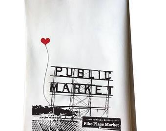 Seattle Pike Place Public Market Tea Towel