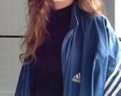 "Vintage Adidas blue sports zip jacket 50"""