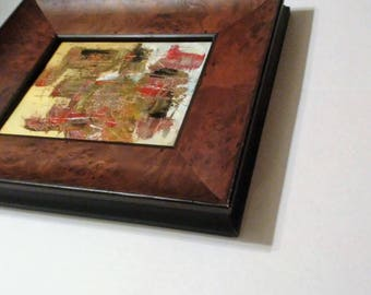 Frequency - 8x10 Framed Abstract Oil Painting