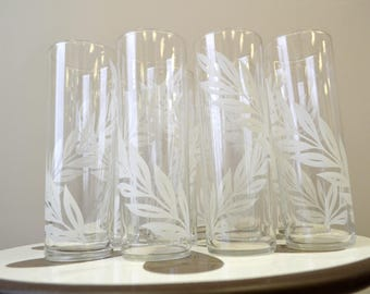 1960s Libbey Collins Glasses, Set of 11