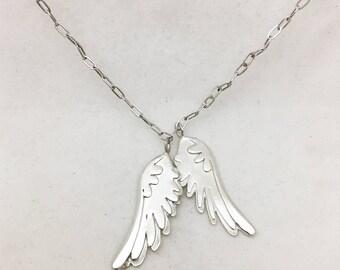 Collier ailes d'argent