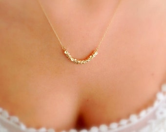 Dainty necklace, Gold necklace, Nuggets necklace, Simple necklace, Minimalist necklace, Dainty gold necklace, Dainty everyday necklace