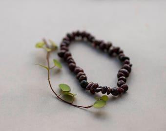 Red Garnet Bracelet, Adjustable Ruby Red Bracelet, Gemstone Bracelet, Boho, Natural, Garnet Bracelet