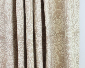 Quadrille Veneto Custom Drapes (shown in Pumice-Comes in 18 Colors.)