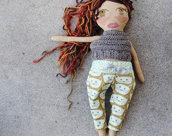 back to basics doll #3. ready to ship.