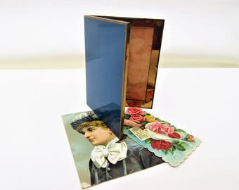 Vintage Compact Frame | Brass Frame | Double Frame | Purse Photo Frame – As Is