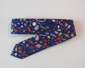 Liberty of London Penny Candy Skinny Tie // Novelty Cotton Necktie, Bright