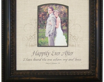 Burlap Wedding Gift, Rustic Wedding Gift for the Couple, Wedding gift for parents, Personalized Wedding Gift, 16x16