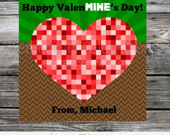 Gaming Valentine Tags, Gaming Valentineu0027s Day Card, Gaming Valentineu0027s Day  Stickers, Be Mine