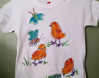 Chicks Rule! Hand painted T-shirt for kids
