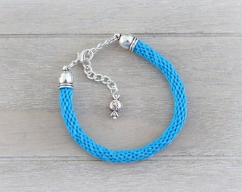 Blue kumihimo bracelet - teen girl adults bracelet - Friendship Braid braided - Summer colorful bracelet