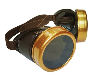 Steampunk goggles glasses ViCTorian for burning man Halloween party novelty gcg costume accessory DIY project biker