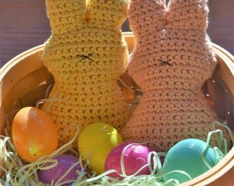 Crochet Easter bunny primitive stuffie