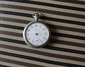 1940s Waltham 17 Jewels Pocket Watch PS Bartlett Sliveroid Keystone FREE Domestic Shipping 1943