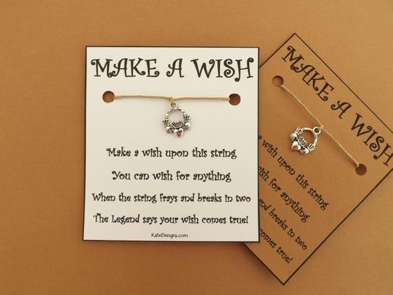 Claddagh Ring Irish Wish Bracelet