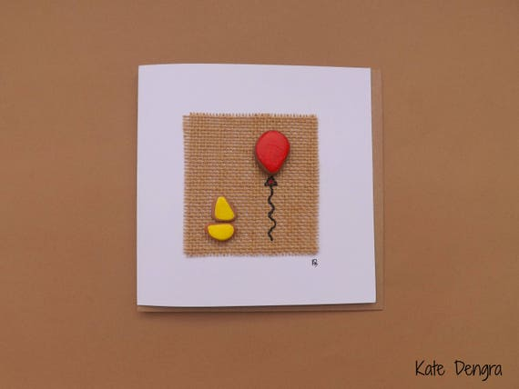 Boat and Balloon Greetings Card