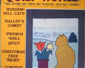Quilt World Magazine Vintage December 1985 Quilt Patterns