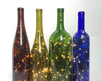 Wine bottle lights Etsy