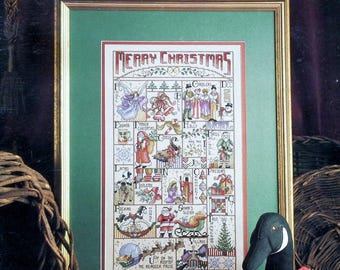 Deborah Lambein | MERRY CHRISTMAS SAMPLER | A to Z | Leisure Arts | Counted Cross Stitch Pattern | Chart