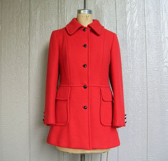 Vintage 70s RED HOT WINTER Pantsuit