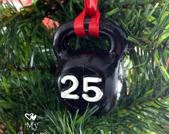 Kettlebell Christmas Ornament