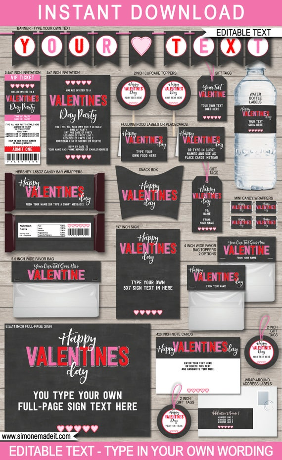 Valentine\'s Day Printables, Party Invitations & Decorations ...