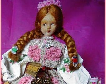 Sewing Box, Sewing Room Basket, Notions, The Royal Seamstress, OOAK decorated Boudoir Basket, Trinket Box, Jewelry Box, Jewellery Basket