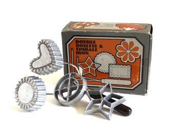 Norpro Rosette Iron Timbale Mold / Waffle Shell Maker Patty Mold, Complete Set