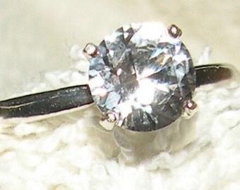 1ct White Sapphire Engagement Ring