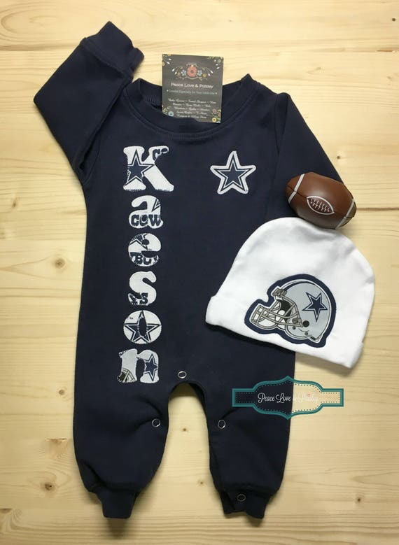 Dallas cowboys personalized baby romper and hat set cowboys like this item negle Gallery